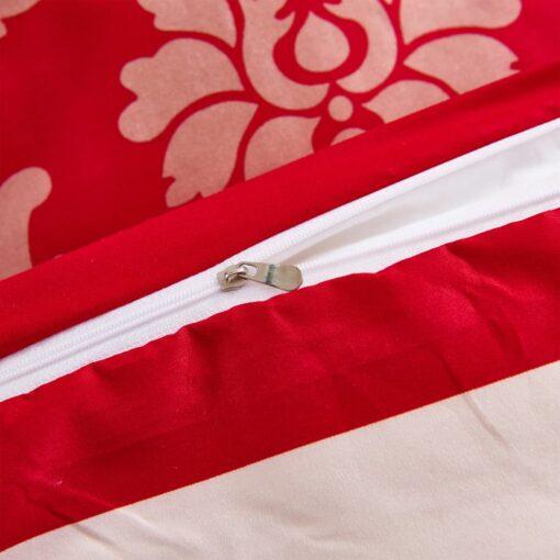 vidaXL sengesæt 135×200/80×80 cm stribet design rød