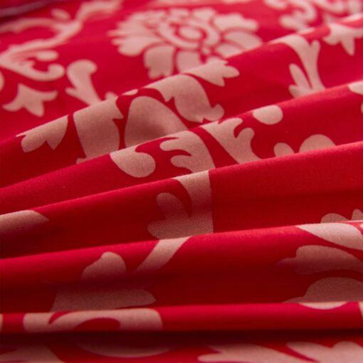 vidaXL sengesæt 155×220/80×80 cm stribet design rød