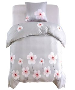 vidaXL sengesæt 155×200/80×80 cm blomsterprint beige