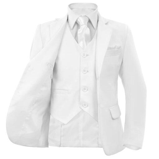 vidaXL jakkesæt til børn 3 dele str. 92/98 hvid