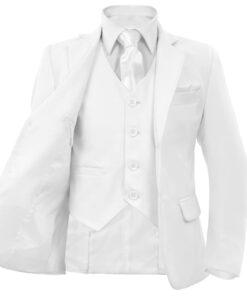 vidaXL jakkesæt til børn 3 dele str. 116/122 hvid