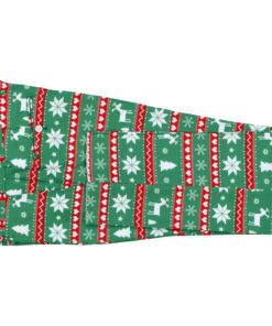 vidaXL jakkesæt i 2 dele med slips juledesign str. 50 grøn