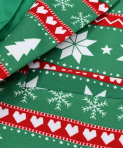 vidaXL jakkesæt i 2 dele med slips juledesign str. 52 grøn