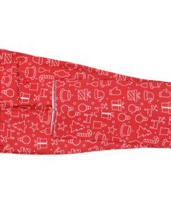 vidaXL jakkesæt i 2 dele med slips juledesign gaver str. 56 rød