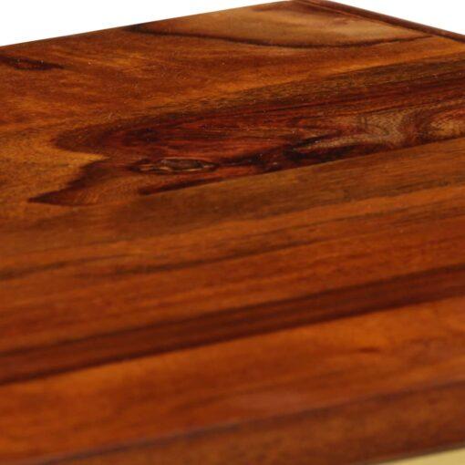 vidaXL skænk massivt sheeshamtræ med gyldent print 120 x 30 x 80 cm