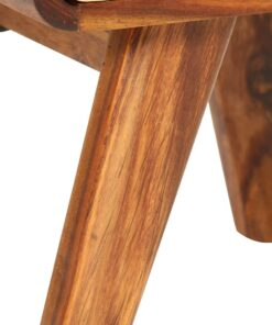 vidaXL natbord massivt sheeshamtræ med gyldent print 49 x 40 x 30 cm