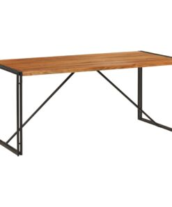vidaXL spisebord massivt træ med sheeshamfinish 180 x 90 x 76 cm