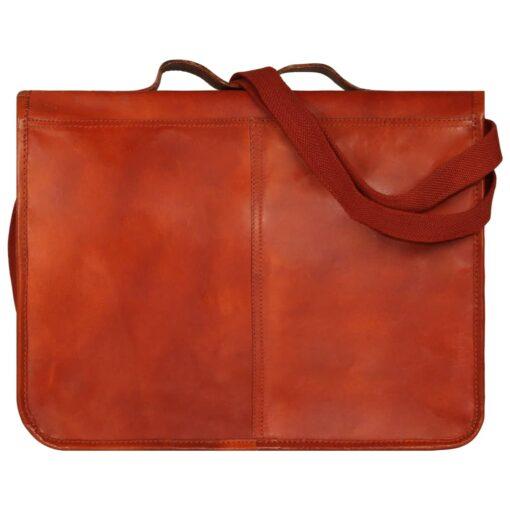 vidaXL computertaske ægte læder gyldenbrun