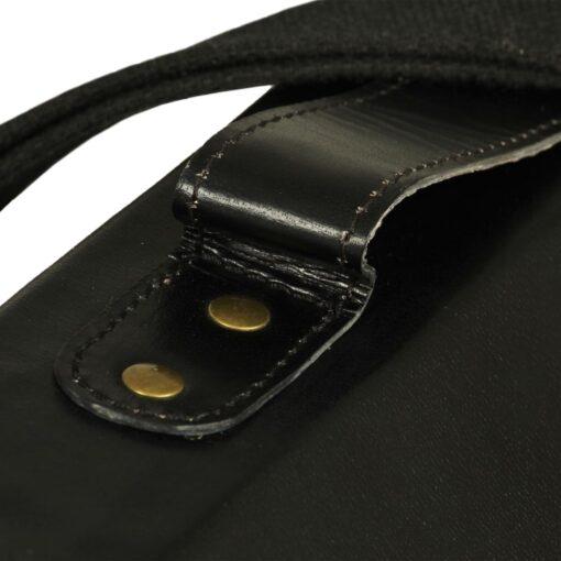 vidaXL budtaske ægte læder sort