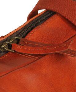 vidaXL computertaske med lynlås ægte læder gyldenbrun