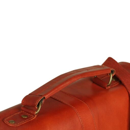 vidaXL attachetaske ægte læder gyldenbrun
