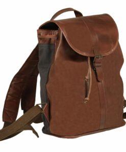 vidaXL rygsæk ægte læder brun