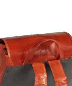 vidaXL rygsæk ægte læder gyldenbrun