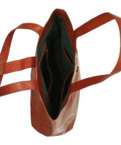 vidaXL shoppertaske ægte læder gyldenbrun