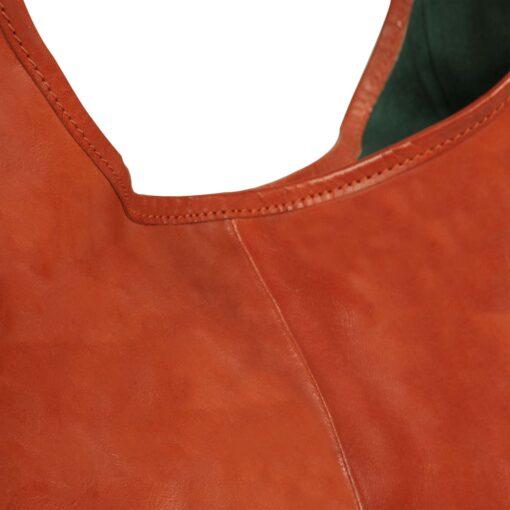 vidaXL håndtaske ægte læder gyldenbrun