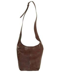 vidaXL håndtaske ægte læder brun