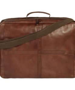 vidaXL weekendtaske ægte læder brun