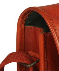 vidaXL skuldertaske ægte læder gyldenbrun