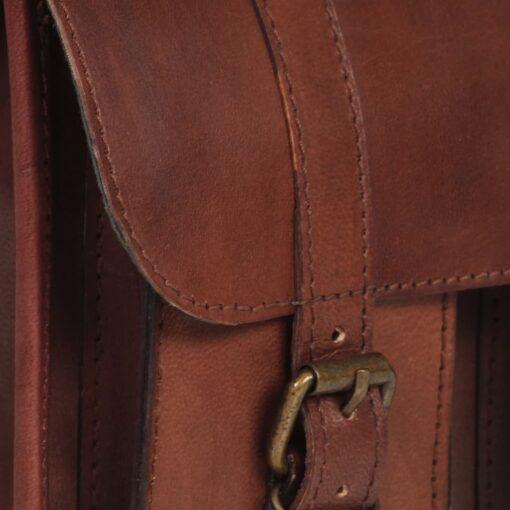 vidaXL skuldertaske ægte læder brun