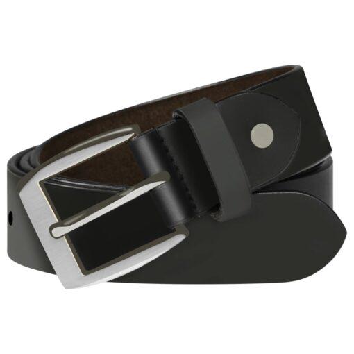 vidaXL bælte til herrer læder 95 cm sort