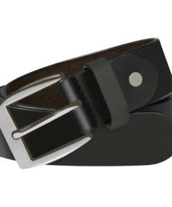 vidaXL bælte til herrer læder 105 cm sort