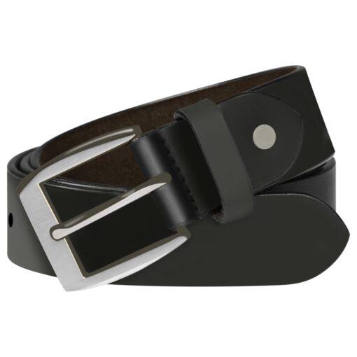 vidaXL bælte til herrer læder 115 cm sort