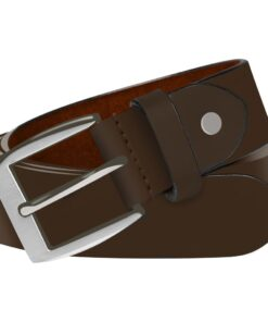 vidaXL bælte til herrer læder 95 cm brun