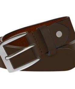 vidaXL bælte til herrer læder 105 cm brun