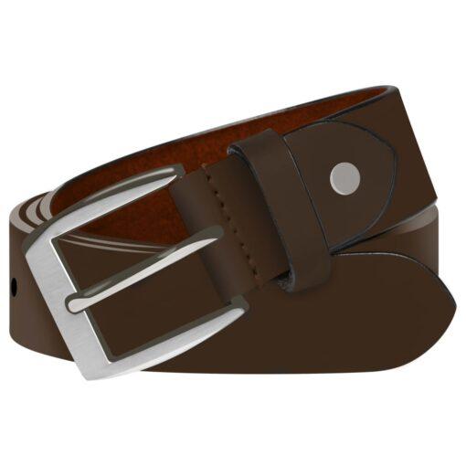 vidaXL bælte til herrer læder 115 cm brun