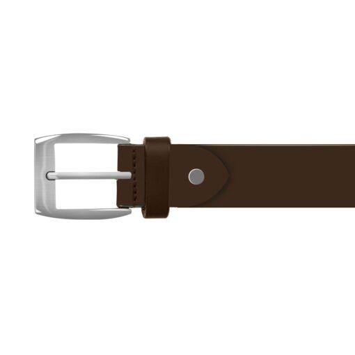 vidaXL bælte til herrer læder 125 cm brun