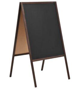 vidaXL dobbeltsidet tavle cedertræ fritstående 60 x 80 cm