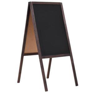 vidaXL dobbeltsidet tavle cedertræ fritstående 40 x 60 cm