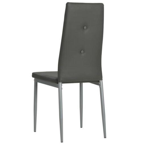 vidaXL spisebordsstole 2 stk. kunstlæder grå