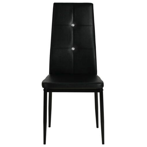 vidaXL spisebordsstole 4 stk. kunstlæder sort