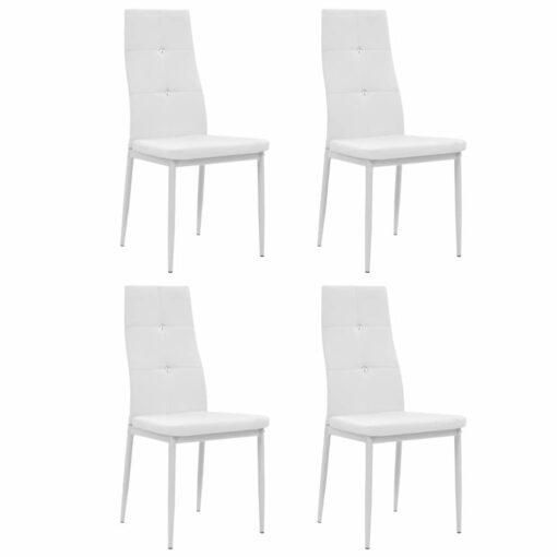 vidaXL spisebordsstole 4 stk. kunstlæder hvid