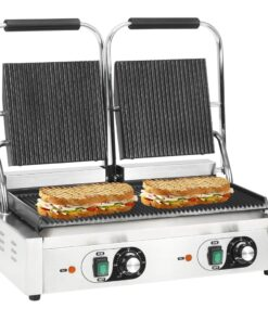 vidaXL dobbeltrillet panini-grill 3600 W 58x41x19 cm
