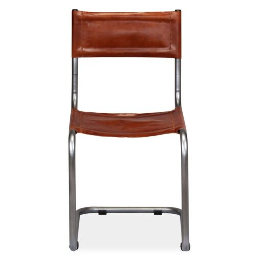 vidaXL spisebordsstole 6 stk. ægte læder brun