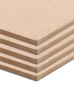vidaXL MDF-plader 10 stk. firkantet 60 x 60 cm x 2,5 mm