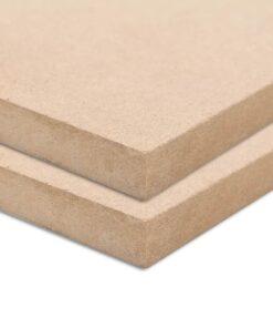 vidaXL MDF-plader 2 stk. rektangulær 120 x 60 cm 12 mm