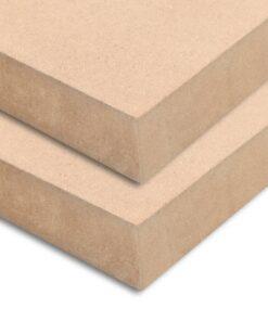 vidaXL MDF-plader 2 stk. rektangulær 120 x 60 cm 25 mm