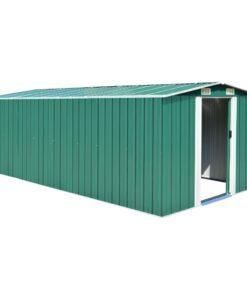 vidaXL haveskur 257x497x178 cm metal grøn