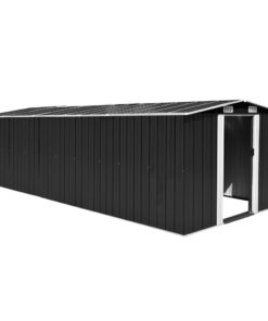 vidaXL haveskur 257x597x178 cm metal antracitgrå