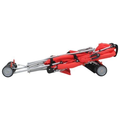 vidaXL sammenfoldelig klapvogn rød stål
