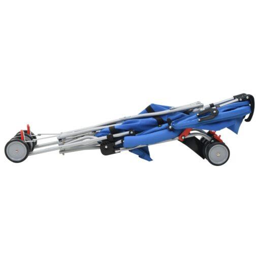 vidaXL sammenfoldelig klapvogn stål blå