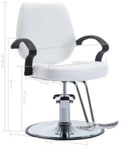 vidaXL frisørstol kunstlæder hvid
