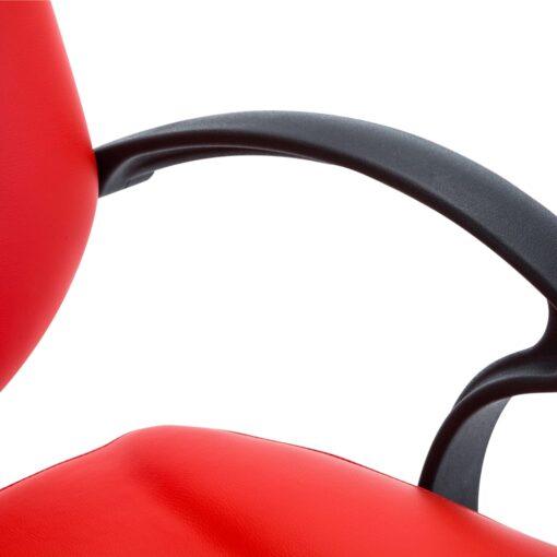 vidaXL frisørstol kunstlæder rød