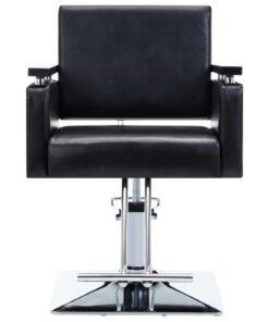 vidaXL frisørstol kunstlæder sort