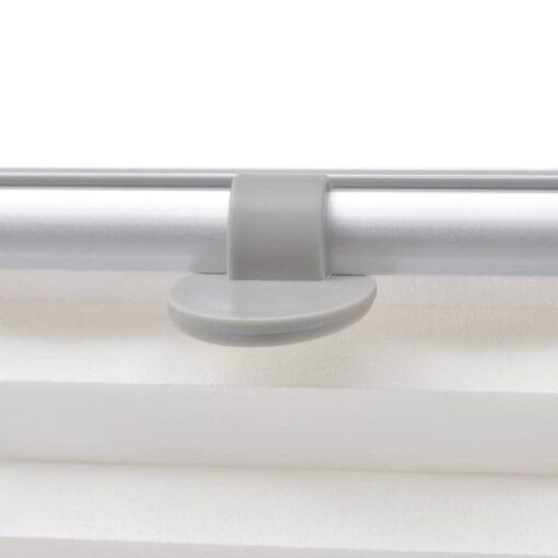 vidaXL plisseret rullegardin hvid MK04