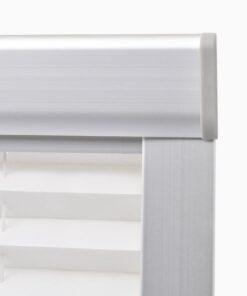 vidaXL plisseret rullegardin hvid MK08