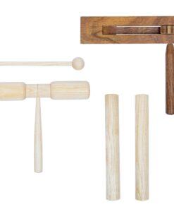 vidaXL perkussionsæt i 3 dele træ